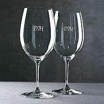 Personalized Riedel Vinum Cabernet / Merlot / Bordeaux Wine Glasses (Script) (Set of 2)