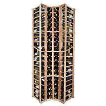 Sonoma Designer Wine Rack Kit - 4 Column Curved Corner Wine Rack w / Display
