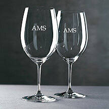 Personalized Riedel Vinum Cabernet / Merlot / Bordeaux Wine Glasses (Block) (Set of 2)