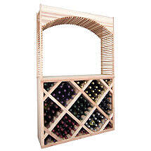 Sonoma Designer Wine Rack Kit - Diamond Wine Bin Counter w / Archway