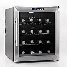Wine Enthusiast Silent 16 Bottle Wine Refrigerator (Stainless Steel Trim)