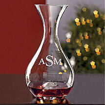 Monogrammed Wine Enthusiast U Wine Decanter
