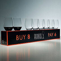Riedel 'O' Buy 8 Pay 6 Cabernet / Merlot Stemless Wine Glasses (Set of 8)