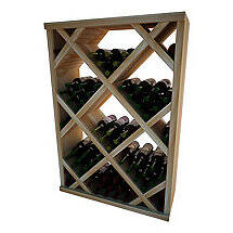 Napa Vintner Stackable Wine Rack - Diamond Bin w / Face Trim