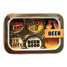 Recycled Bottle Cap Magnets (Beer)