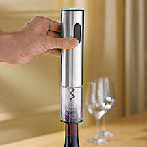 Electric Blue Push-Button Corkscrew (Stainless Steel)