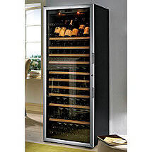 EuroCave Performance 283 Wine Cellar (Black - Left Hinged Glass Door with Brushed Aluminum Trim)
