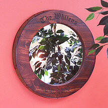 Personalized Wine Barrel Hoop Mirror
