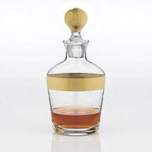 Madison Avenue Whiskey Decanter Gold Band