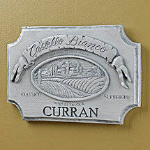 Personalized Castello Bianco Label Wall Plaque (White Wash)