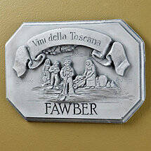 Personalized Vini Della Toscana Label Wall Plaque (White Wash)