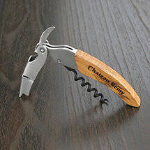 Personalized Origine Reclaimed Wine Barrel Waiter's Corkscrew (Oiled Finish)