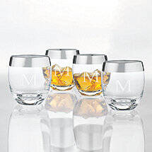 Personalized Madison Avenue Whiskey Glasses (Set of 4)