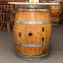 Reclaimed Half Barrel Bar / Console