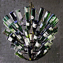 Luce De Vino Wine Bottle Chandelier (Large)