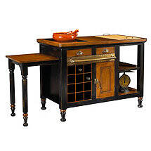 Gourmet Kitchen Island (Black)