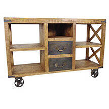 Napa Two Drawer Wheel Buffet Table