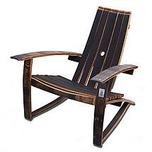 Whiskey Barrel Adirondack Chair (Closed Top)