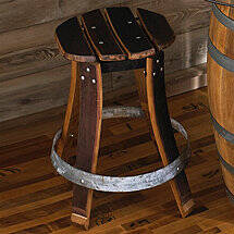 Barrel Stave Stool with Swivel Seat (26 Inch)