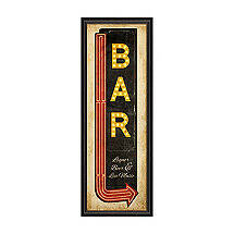 Bar Sign with Arrow