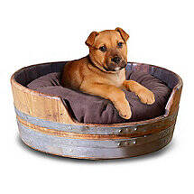 Wine Barrel Pet Bed Small