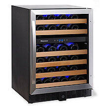 Wine Enthusiast Classic 46 Dual Zone Wine Cellar (Stainless Steel Trim)