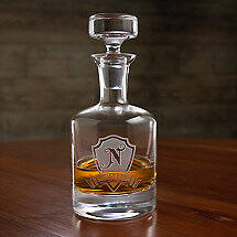 Personalized Shield Whiskey Decanter