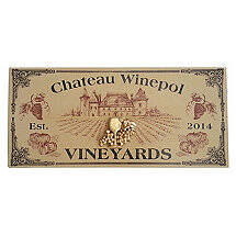 Personalized Chateau Vineyards Plank Sign