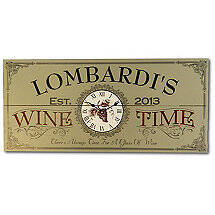 Personalized Wine Time Clock