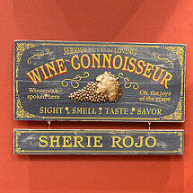 Personalized Wine Connoisseur Sign