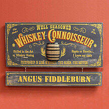 Personalized Whiskey Connoisseur Sign