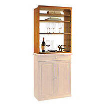 N'FINITY Wine Rack Kit - Hutch with Shelves (Natural Finish)