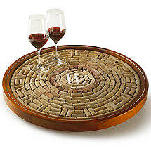 Personalized Wine Cork Lazy Susan Kit
