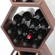 Honeycomb Modular Wine Rack (Walnut)