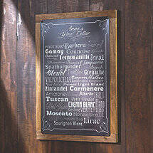 Personalized Wine Cellar Varietal Sign