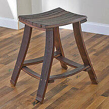 Wine Barrel Stave Rectangle Seat