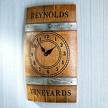 Personalized Wine Barrel Wall Clock
