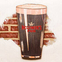 Personalized Pint of Stout Sign