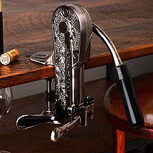 Legacy Corkscrew with Black Marble Handle (Pewter)
