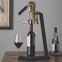 Legacy Corkscrew with Black Marble Stand and Handle (Antique Bronze)