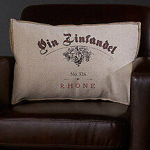Wine-Themed Accent Pillow (Vin Zinfandel)