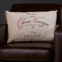 Wine-Themed Accent Pillow (Cabernet Sauvignon)