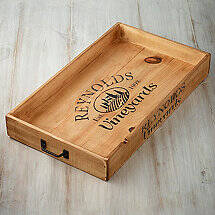 Personalized Wine Crate Serving Tray