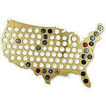 Beer Cap Collectors Map of USA