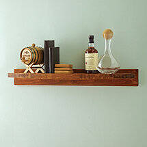 Reclaimed Barrel Stave Floating Shelf