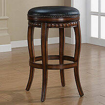 Alonza Swivel Backless Stool