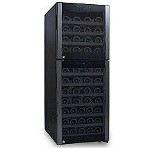 73-Bottle Evolution Series Dual Zone Wine Refrigerator (Glass Door with Black Stainless Steel Trim)