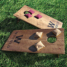 Personalized Wine Barrel Cornhole Game Set