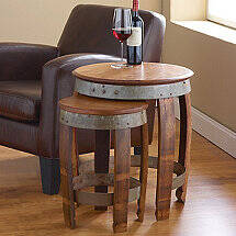 Barrel Head Nesting Tables