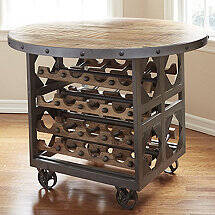 Repurposed Industrial Wine Storage Pub Table